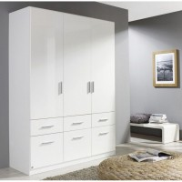 Шкафы белые распашные